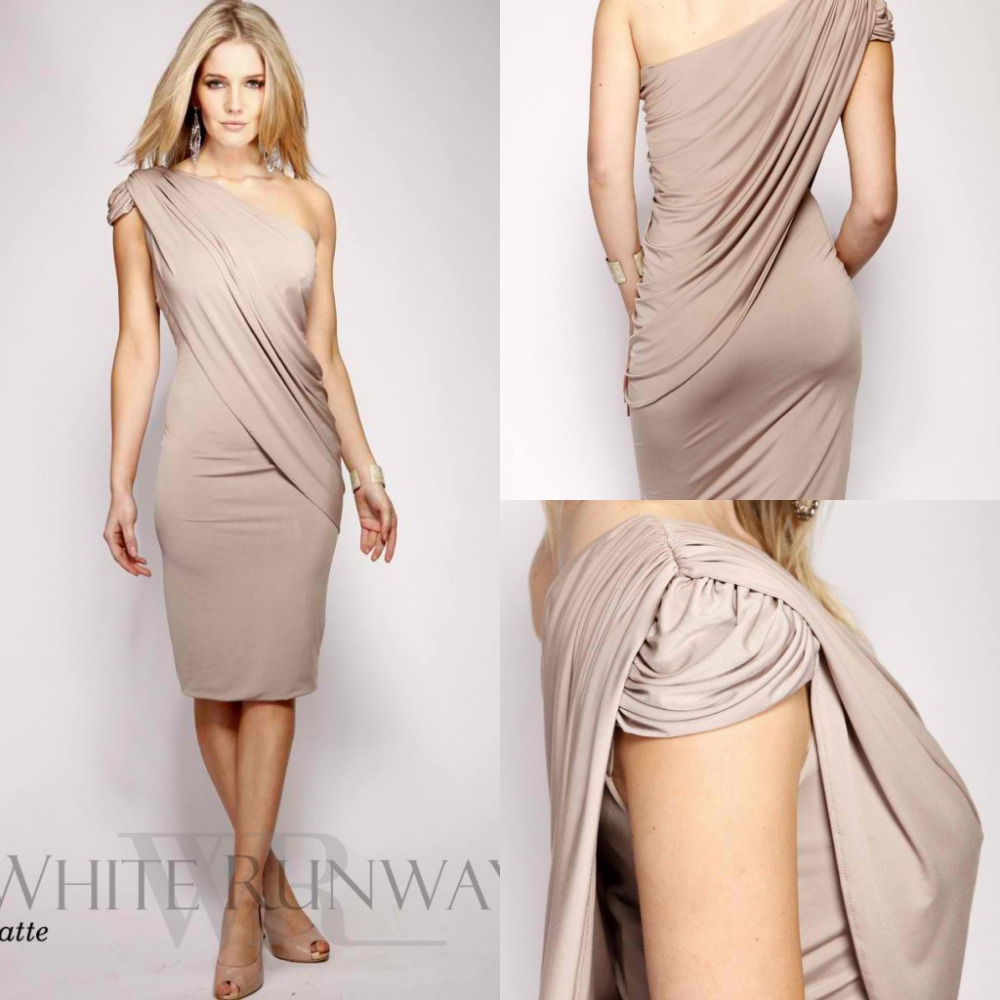Aliexpress.com : Buy 2017 One Shoulder Knee Length Mother of the ...