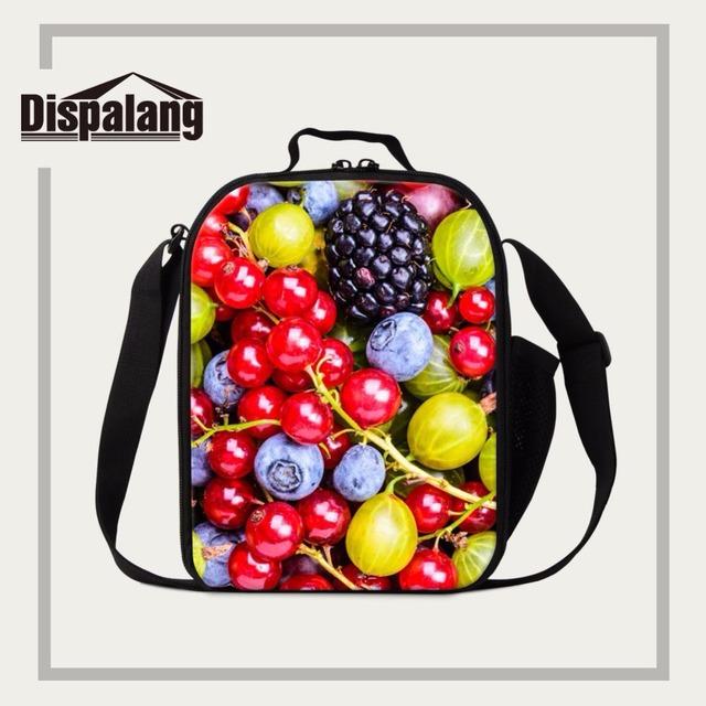 Dispalang hombro aislado bolsa de almuerzo para la escuela de frutas dulces de impresión de envases de comida para las mujeres oficina de picnic hielera y fiambrera