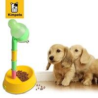새로운 디자인 애완 동물 개 고양이 식품 물 조절 피더 애완 동물 개 고양이 그릇 개 물