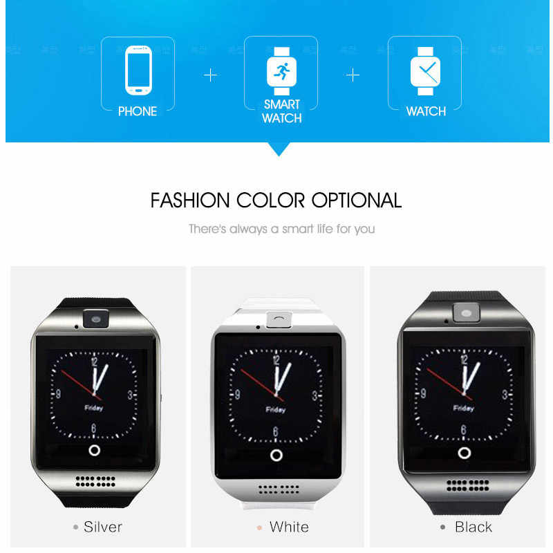 Bluetooth Smart Watch Q18 Smartwatch Support TF SIM Card GSM camera For  Android IOS Smart clock watch Phone For Men Women Sport