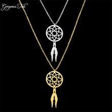 Boho Jewelry Dream Catcher Pendant Dreamcatcher Supernatural Necklace Women Accessories Bohemia Charm Chain Choker Necklace