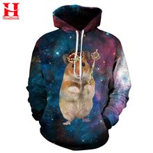 2017 Headbook Cartoon Crown Mouse Print Sweatshirt Men/Women Hooded Hoodies 3d lovely Hoody Tracksuits With Cap Casual Jacket