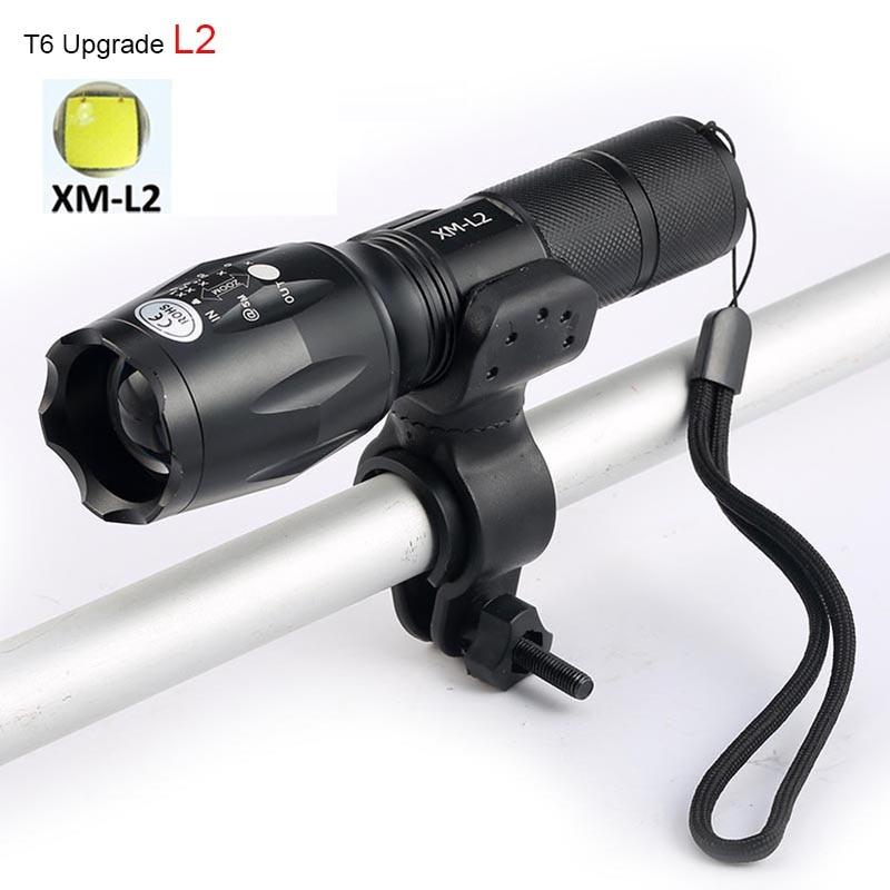 <font><b>X900</b></font> Bicycle Light 6000 Lumen 5 Mode XM-L2 <font><b>LED</b></font> E17 Flashlight Bike Light Front Torch Lamp Waterproof <font><b>Lanterna</b></font>+Bike Clip Mount