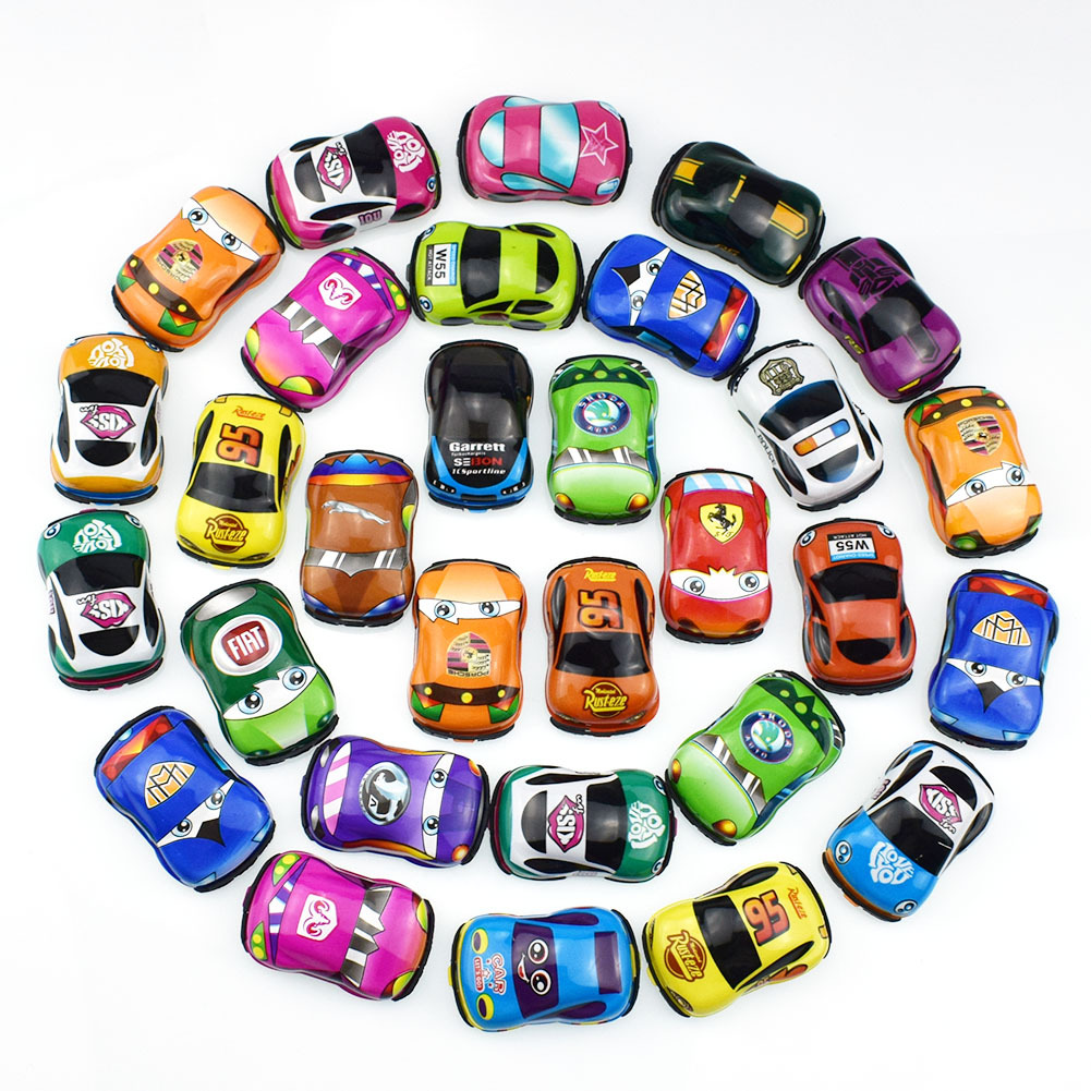 Racing Mini Cartoon Pull Back Cars Bus For Collection Model Brinquedos Car Vehicle Toys For Boys Children Christmas Gift
