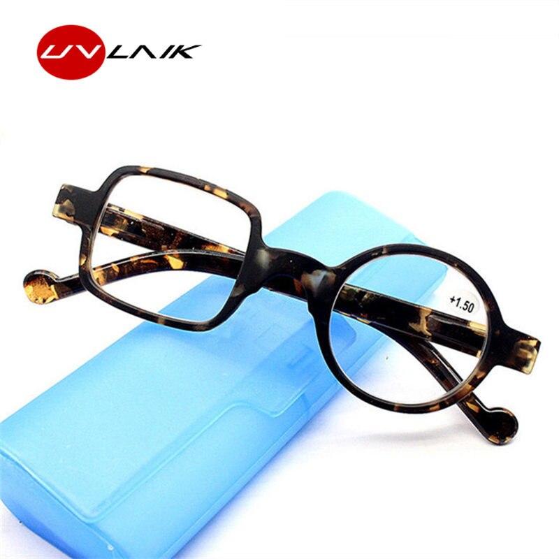 a17a5976b9 UVLAIK estilo Retro gafas ópticas de los hombres de las mujeres de alta  calidad gafas de leopardo Vintage gafas de lectura redondas gafas + 100 +  300
