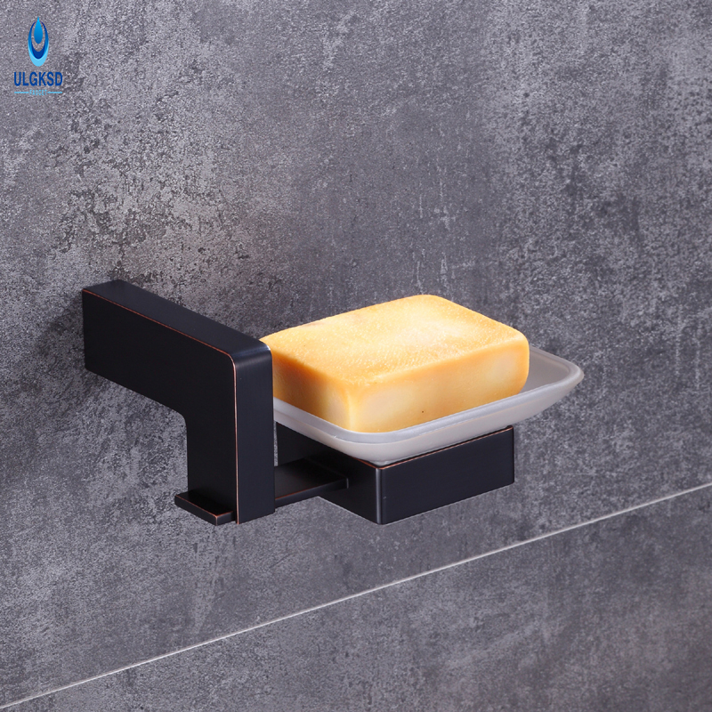 ULGKSD Bathroom Accessories Single Soap Dish Holder Bathroom Hardware Wall Mounted Bathroom and Kitchen Shower Soap Rack Dish