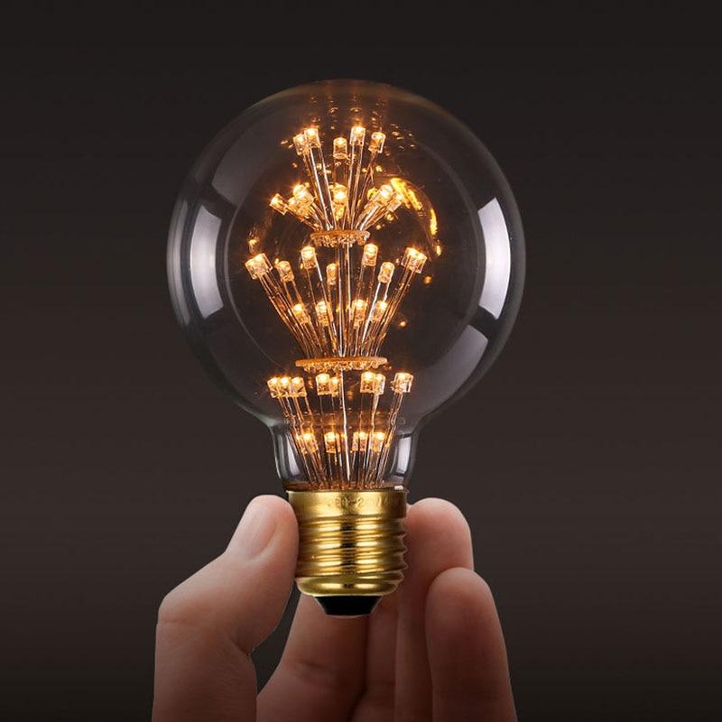 Antique Edison Light Lamp Bulbs T10 ST64 G95 G80 A60 220V E27 3W Tungsten Incandescent Light Bulbs Retro Party Lighting Decor