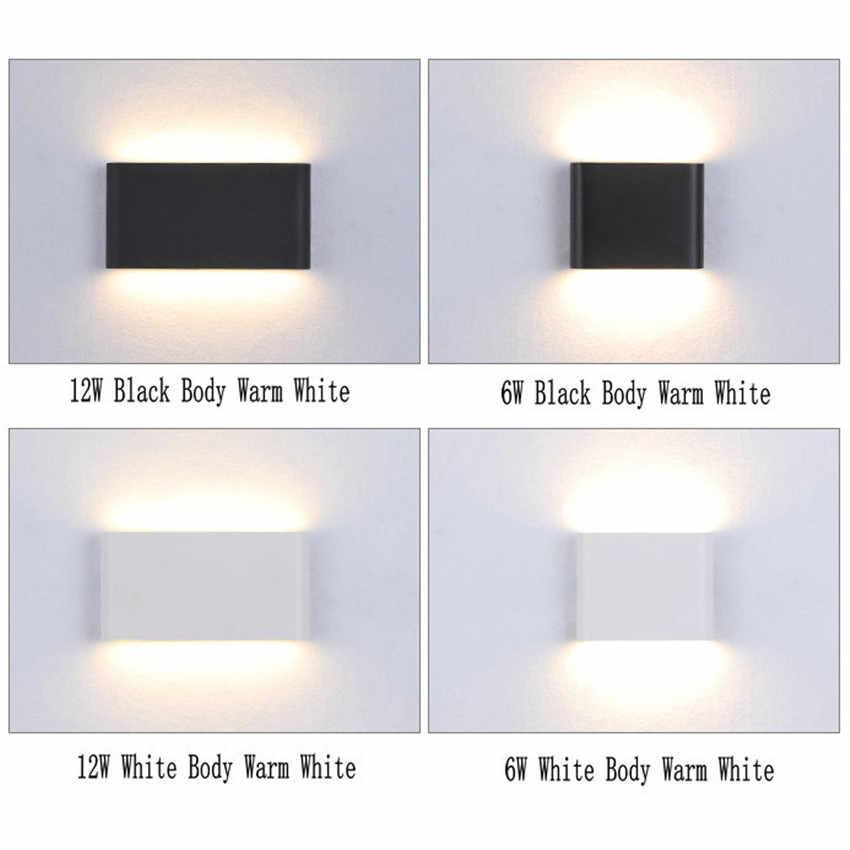 Наружная Водонепроницаемая IP65 настенная лампа 6 Вт/12 Вт светодиодный современная настенная лампа для внутреннего/наружного декора с двойной головкой алюминиевая настенная лампа NR-10