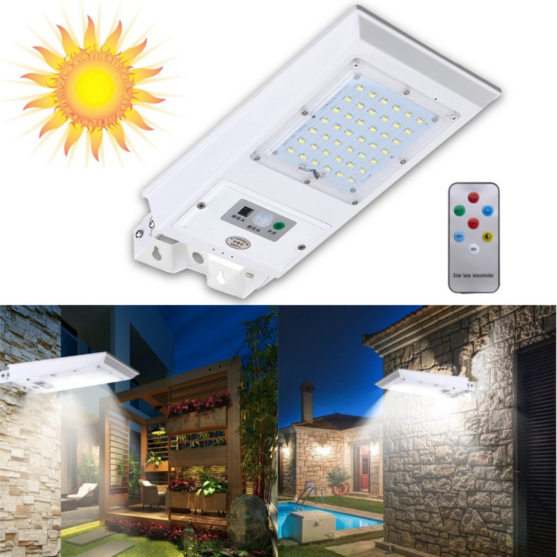 60 LED Solar Light 5730 SMD Solar Power PIR Motion Sensor Garden Light Waterproof Outdoor Emergency Wall Lamp 40W
