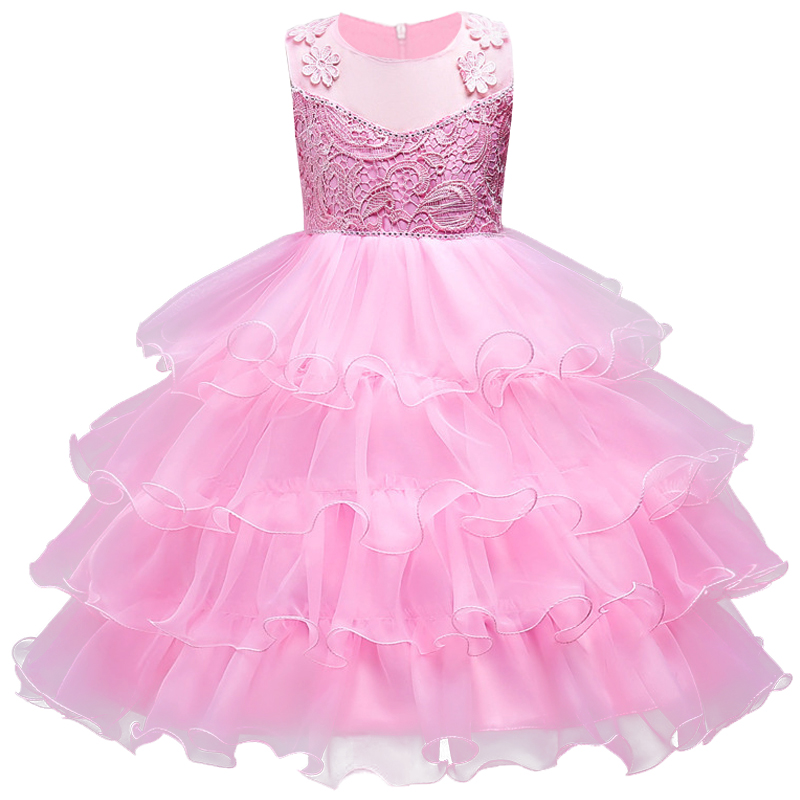 3-14 year teenager Party Pageant Dress for Girls Wedding Flower Girl Dress Kids Princess Sleeveless clothes