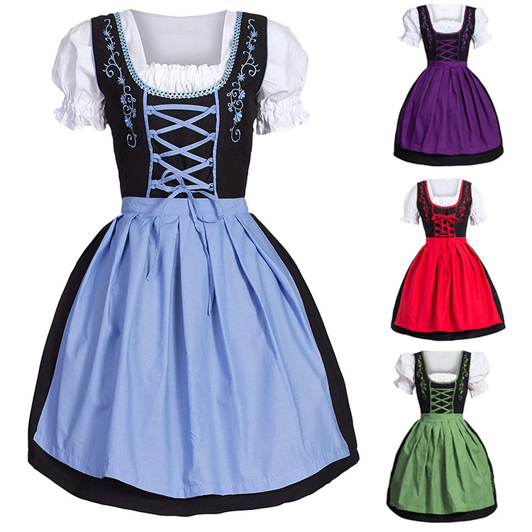 S-5XL 18th European Medieval Costume for Women Royal Maid Dress Beer Girl Female Vintage Victorian Maid Cosplay Dresses