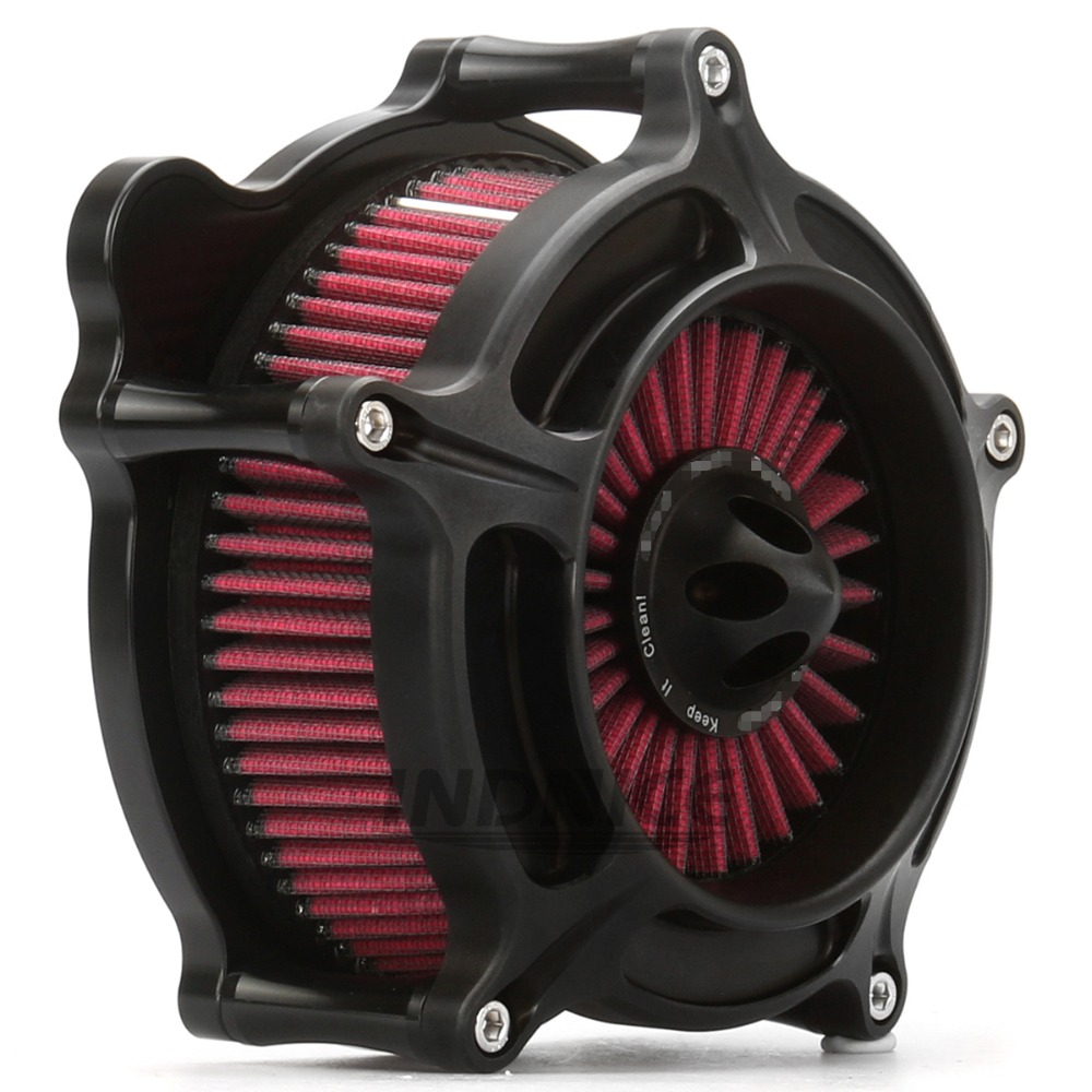 Motorcycle spike air cleaner air filter harley air intake for harley touring street glide road king road glide electra 2008 2016 in Air Filters Systems from Automobiles Motorcycles