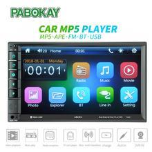 2din 7 Touch Car Radio MP4 Auto Stereo FM audio MP5 Player Autoradio Bluetooth Rear View Camera Steering wheel Remote Control цена
