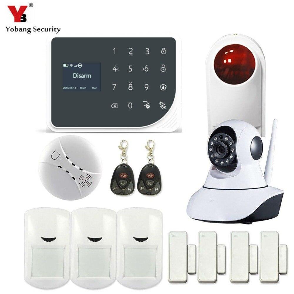 YoBang Security GSM WIFI font b Alarm b font Sensor Russian Spain Netherland Voice Indoor Video