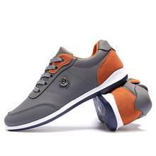 Nueva Venta Caliente de La Manera 2017 de Los Hombres Zapatos de Cuero de la pu Ocasional Cómodo respirable Con Cordones Planos Zapatos de Calidad Zapatos de Los Hombres de Primavera otoño