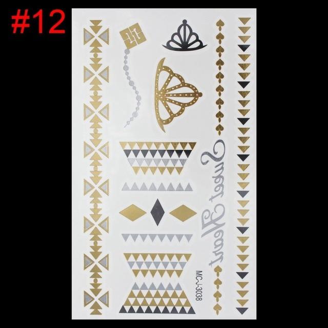 1b9e3e60267ba new temporary tattoo sex product gold tattoo necklace choker bracelet flash  tattoos henna tatouage metalic fake