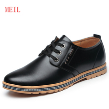 Height Increase 6CM Oxfords for Men Casual Microfiber Leather Shoes 2019 Quality Hidden Elevator Young Footwear