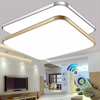 Modern Silver Gold RGB 2.4G Remote Control Aluminum Acrylic LED Ceiling Lamp Colorful Romantic Ceiling Light For Livingroom