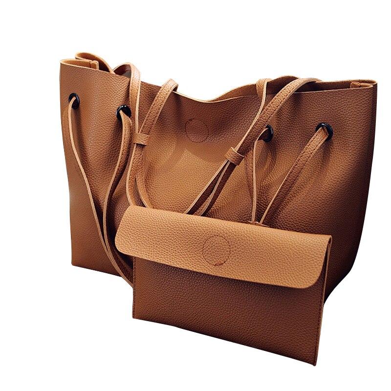 Vintage Handtaschen Frauen Pu-leder Große Kapazität Weibliche Umhängetaschen Einfarbig Praktische Frauen corssbody Tasche Composite-tasche