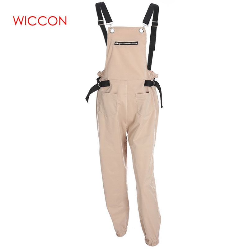 Women Fashion Loose Calf Length Wide   Jumpsuits   Rompers 2019 Casual Cotton Womens   Jumpsuit   Overalls Strap Backless   Jumpsuits