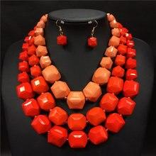 Perlas africanas joyería conjunto 2016 de big chunky collares collier nigeriano boda perlas africanas joyería conjunto resina gargantilla para las mujeres
