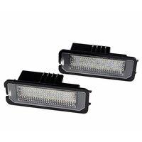 2pcs Set 18 SMD Car LED License Plate Light Lamp Super White For Bently Mulsanne