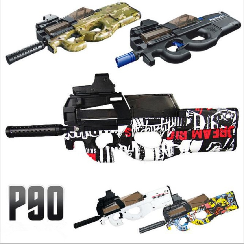 Live CS P90 Electric Toy Gun Orbeez Paintball Assault Snipe Weapon Soft Water Bullet Pistol with bullets Toy Boy Weapons toy elite hot fire strike infrared ray soft bullets toy gun manual kids pistol gun toy