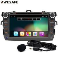 8 Inch Car DVD Player Radio GPS Navigator Android 4 4 Car Radio Stereo Steering Wheel
