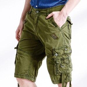 Image 4 - Quân đội Ngụy Trang Cargo Shorts Làm Việc Bermuda Nhiều Túi Thương Hiệu Quần Áo Baggy Shorts Quân Sự 100% Cotton Thường Ngắn Homme 252