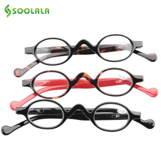 d6a035cc27 SOOLALA Occhiali Da Lettura Uomini Donne 3 pz Piccola Rotonda di Plastica  di Ingrandimento Presbiti Occhiali