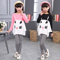 Girls Clothes Cotton Brand Children Clothing Cartoon T-Shirt + pants 2Pcs Girls Clothing Sets Spring Kids Tracksuits For Girls