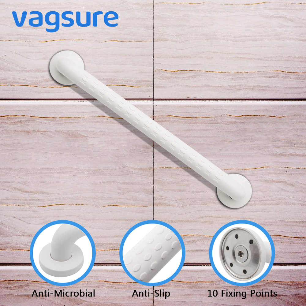 Vagsure 1pcs 30/45/60cm ABS Plastic Grab Bar Bathroom Safety Handle Railing Anti-slip Handrail Bathtub Accessories For Elderly