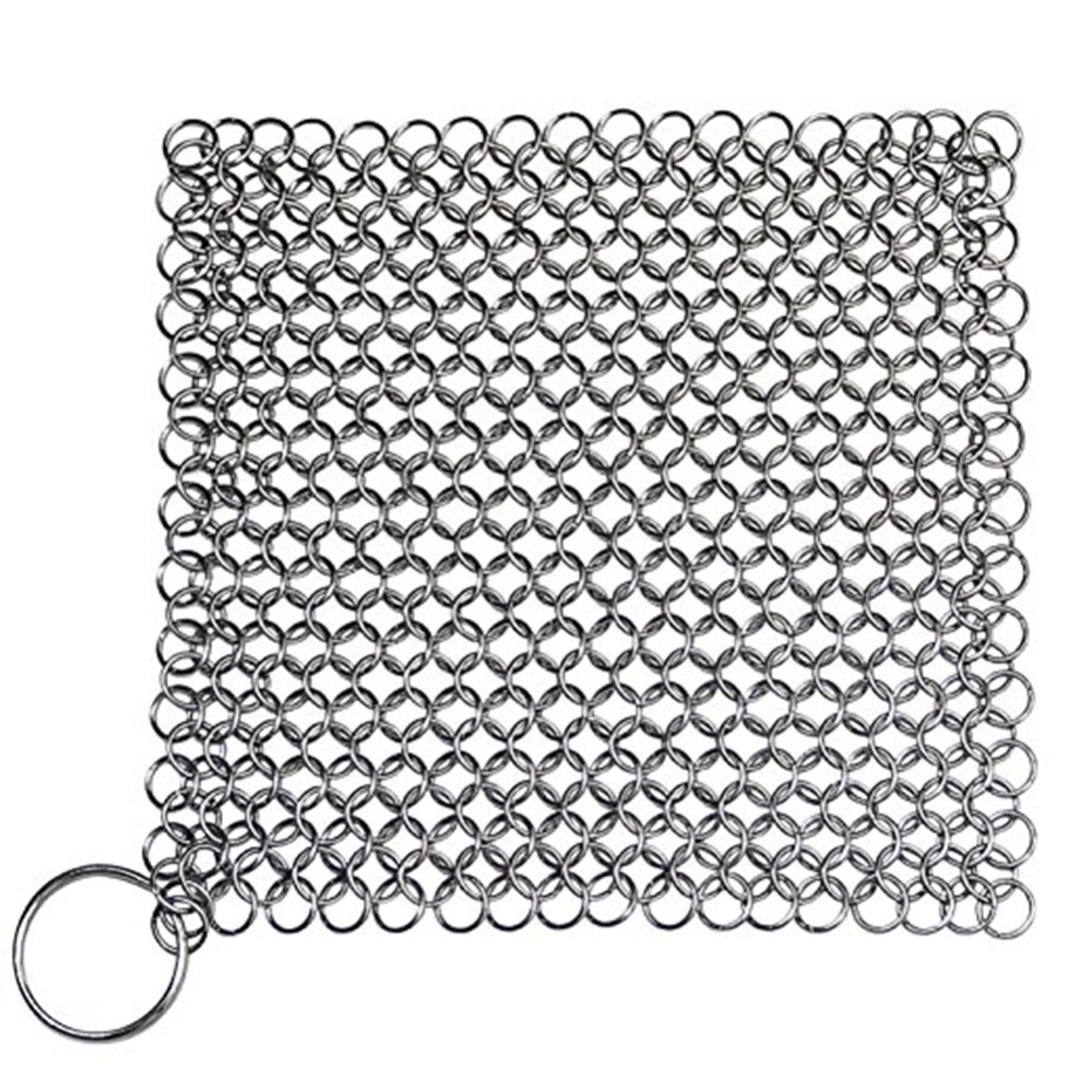 7*7 inch Finger Iron Cleaner Stainless Steel Chainmail Palm Brush Scrubber Kitchen Gadgets Wash Tool Pan Dish Bowl Mayitr