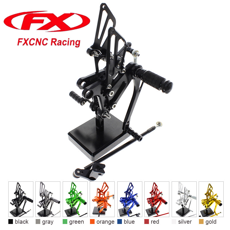 все цены на FX CNC Aluminum Adjustable Motorcycle Rearsets Rear Set Foot Pegs Pedal Footrest For HONDA NSF100 NSR50 2004 - 2010 2009 2008 07