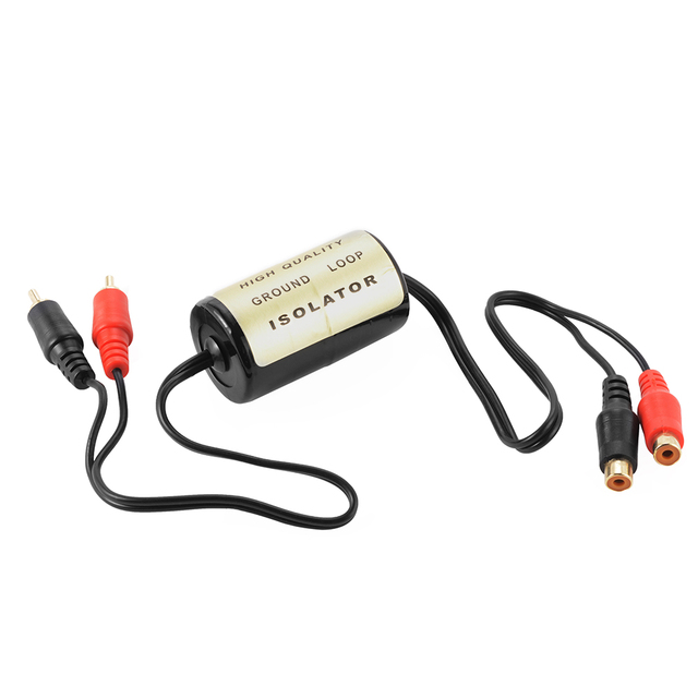 Best Price 20A Car RCA Audio Noise Filter Suppressor Ground Loop Isolator Killer Remover for Car and Home Stereo CY658-CN