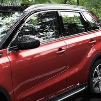 Stainless Steel Glass Window Garnish Pillar Middle Column Trim frame For Suzuki Vitara 2016 2017 2018 Car Decorative Sequins