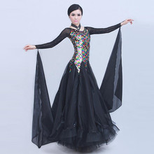 3 colors pyrographic Deluxe high-end standard Ballroom Dance Costume Dress for competition  sequins waltz/tango/foxtrot costumes
