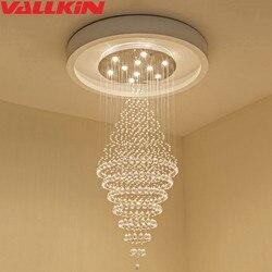Nowoczesne Lustre oświetlenie Led kryształowy żyrandol żyrandole sufitowe światło Lamparas De Techo Hanglamp zawieszenie oprawa Lampen