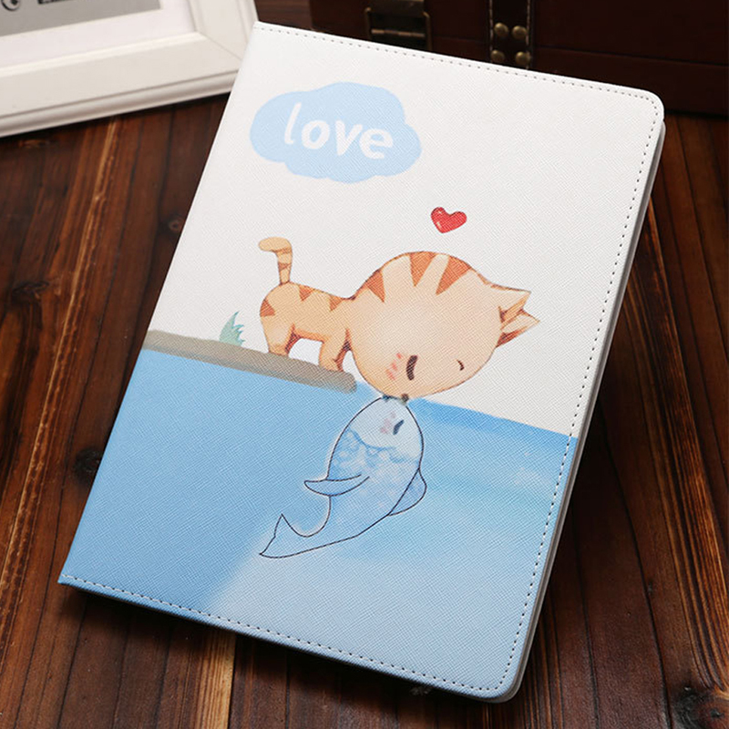 cover for iPad MiNi 1 2 3 4 Cute Cartoon Folio Stand Smart Cover Auto Wake Up/Sleep Case For ipad MiNi 2 3 4 Flip Stand Shell