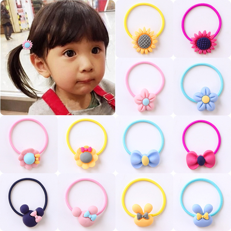 New Fashion Girls Elastic Hair Bands Headwear Flower Candy Cartoon Baby Rubber Bands Scrunchies Kids Headbands Hair Accessories стоимость