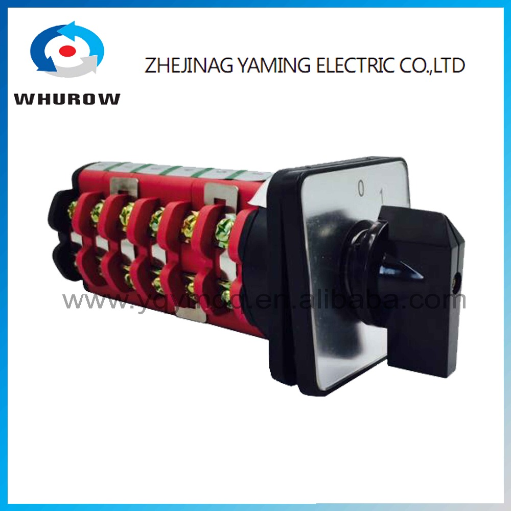 KDHC-40/6*3 4 position 0-3 6 phase electrical switches for CO2 welding machine changeover rotary switch High quality AC50Hz 380V 660v ui 10a ith 8 terminals rotary cam universal changeover combination switch