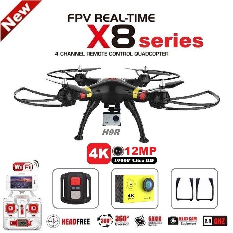 SYMA X8C X8G X8W X8HG X8 FPV RC Drone Com Câmera H9R 4 K 1080 p Wi-fi Ultra HD 2.4G 4CH RC Quadcopter Dron Helicóptero Profissional