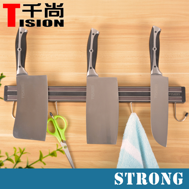 kitchen knife magnet island with sink for sale tision strong magnetic holder wall mount block stand tool rest shelf and s hooks