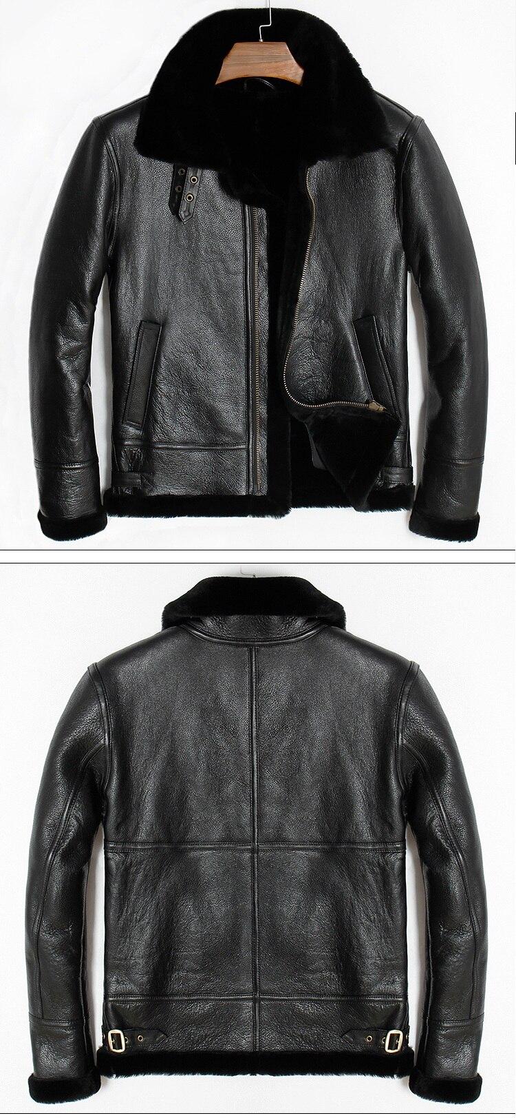 Free shipping,Winter Genuine Sheep fur coat,Wool Shearling,warm leather jacket,mens sheepskin coat.plus size black jackets.