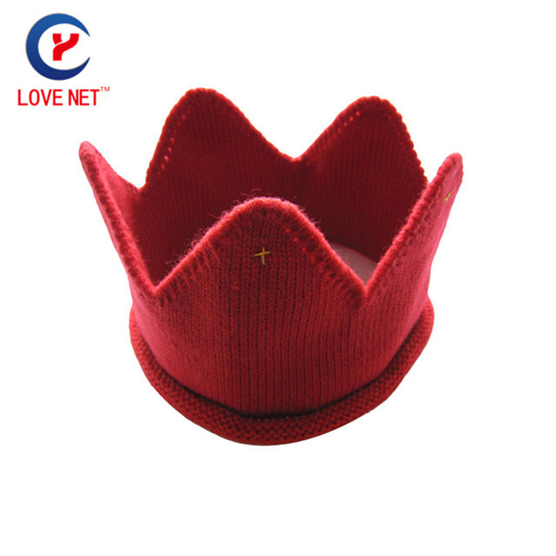 2017 New arrival Fashion Children Knitted Skull cap Warm Crown Shaping Cap Cute kids Knitted beanies hats  #161102_x82 цены онлайн