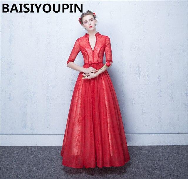 Prom jurken lange abito cerimonia donna sera sexy open back rood kant  formele avondjurken jurken jpg 54c20047373