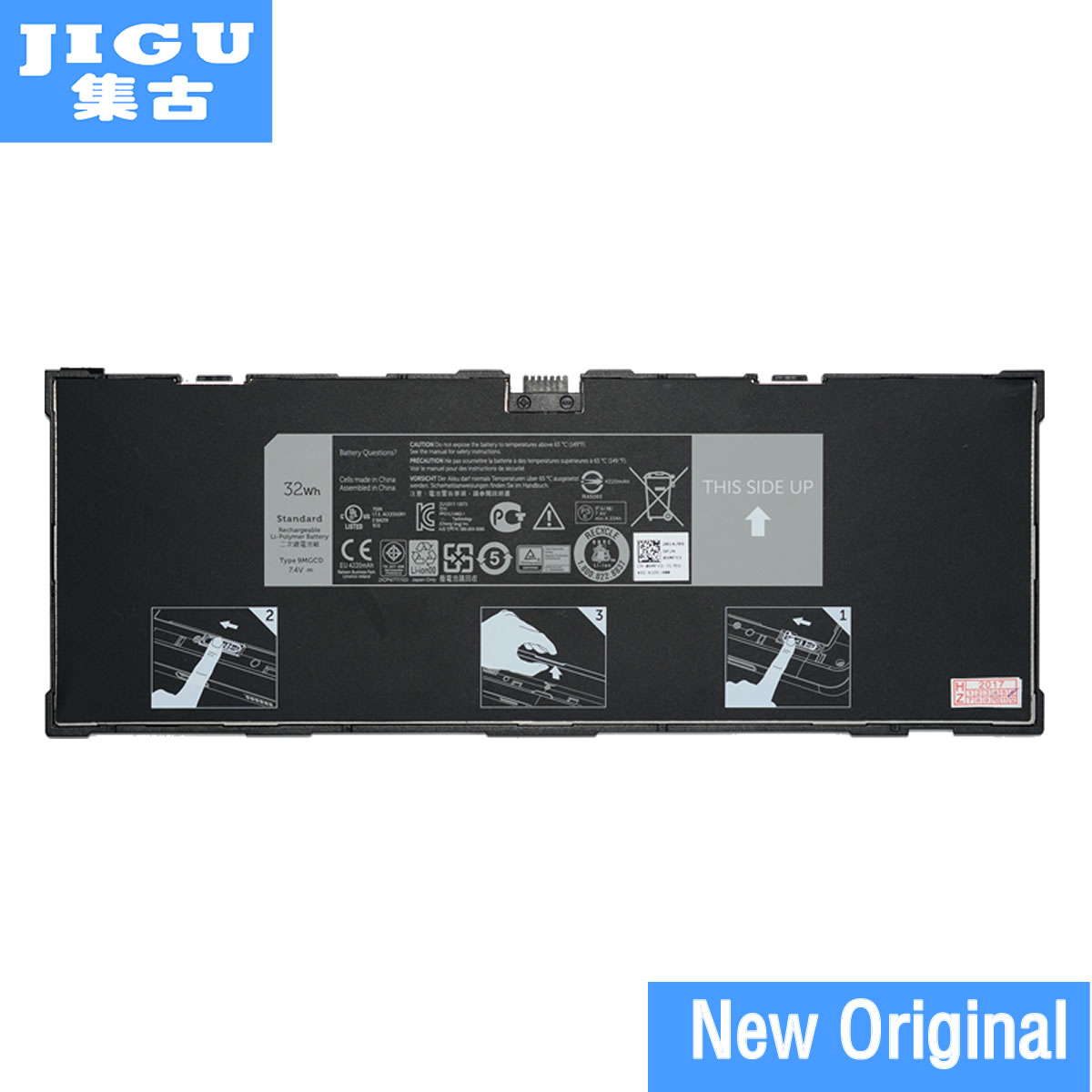 JIGU 100% New Original Tablet Battery 312-1453 XRXMG VYP88 451-BBIN XMFY3 For Dell Venue 11 Pro 5130 9MGCD 7.4V 32WHJIGU 100% New Original Tablet Battery 312-1453 XRXMG VYP88 451-BBIN XMFY3 For Dell Venue 11 Pro 5130 9MGCD 7.4V 32WH