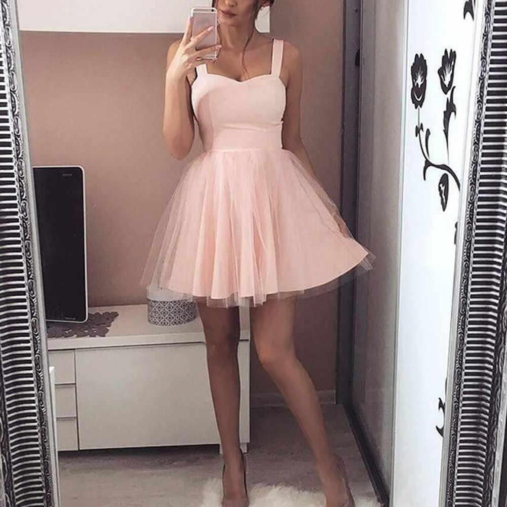 Летнее женское платье на бретелях без рукавов женский однотонный сексуальные сетчатые платья для девочек KNG88
