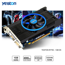 Yeston Radeon R7750 GPU 1GB GDDR5 128bit Gaming Desktop computer PC Video Graphics Cards support VGA/DVI/HDMI PCI-E X16 3.0