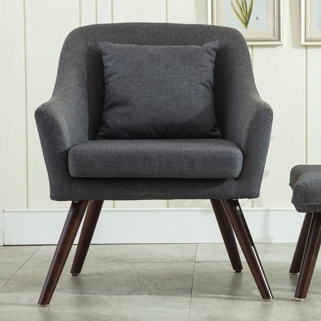 Mid Century Modern Style Armchair Sofa Chair Living Room Furniture Single  Sofa Design Wooden Legs Bedoorm Armchair Accent Chair